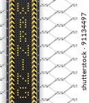 hazard background with wired... | Shutterstock .eps vector #91134497