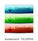 glossy download buttons | Shutterstock .eps vector #91139945