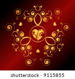the valentine's card | Shutterstock .eps vector #9115855