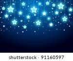 christmas background with stars   Shutterstock .eps vector #91160597