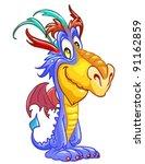 happy dragon | Shutterstock .eps vector #91162859