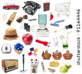 mixed object  various objects... | Shutterstock . vector #91164446