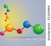 molecule design or business... | Shutterstock .eps vector #91164464