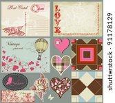 Vintage Love Set  Postcards ...
