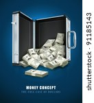 case with dollars money concept ... | Shutterstock .eps vector #91185143