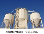 Industrial Cement Processing Plant - stock photo