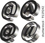 3d e mail sign   Shutterstock .eps vector #9119242