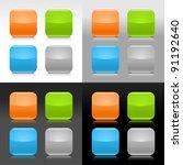 glossy blank web internet... | Shutterstock .eps vector #91192640