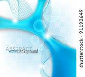 eps10 vector blue elegant... | Shutterstock .eps vector #91192649