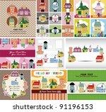 cartoon house card | Shutterstock .eps vector #91196153