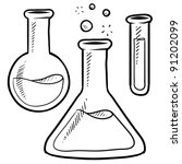 Doodle Style Science Laboratory ...