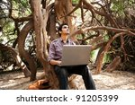 remote connectivity  man...   Shutterstock . vector #91205399