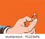 pop art illustration.hand... | Shutterstock .eps vector #91223696