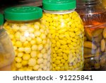 Thai fruit preserve style in market - stock photo