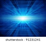 virtual technology background.... | Shutterstock . vector #91231241