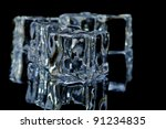 5 ice cube on the black ... | Shutterstock . vector #91234835