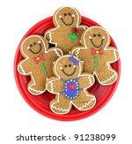 gingerbread men | Shutterstock . vector #91238099