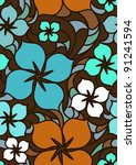 colorful flowers seamless...   Shutterstock . vector #91241594