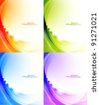 Light Waves Vector Abstract...