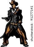 graphic mascot vector image of... | Shutterstock .eps vector #91277141