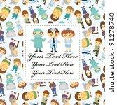 doctors and patient people card | Shutterstock .eps vector #91278740