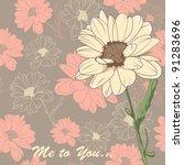 romantic valentines card on... | Shutterstock .eps vector #91283696
