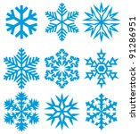 Collection Of Snowflakes  Set...