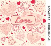 love and valentine | Shutterstock .eps vector #91289306