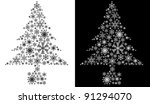 christmas tree isolated | Shutterstock . vector #91294070