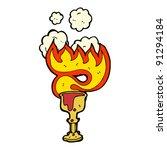 flaming magic halloween cup of...   Shutterstock .eps vector #91294184
