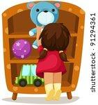 illustration of isolated girl...   Shutterstock .eps vector #91294361