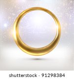 abstract glow golden frame for...