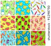 collection of nine different... | Shutterstock . vector #91298750