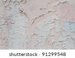 peeling off wall paint for background texture - stock photo