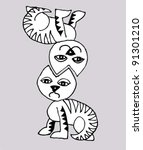 cats | Shutterstock .eps vector #91301210