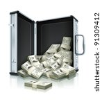 Case With Dollars Money Concep...