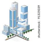 modern tall skyscraper in the... | Shutterstock .eps vector #91325039