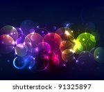 sparkly de focused background | Shutterstock .eps vector #91325897
