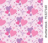 seamless hearts pattern. vector | Shutterstock .eps vector #91327160