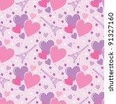 seamless hearts pattern. vector | Shutterstock .eps vector #91327160
