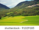 alpine landscape near innsbruck ... | Shutterstock . vector #91329185