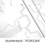 circuit board background ... | Shutterstock . vector #91341164