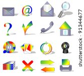 set of computer and web icons... | Shutterstock .eps vector #91344677