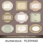 vector illustration of vintage... | Shutterstock .eps vector #91354460