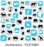 vector animal silhouettes   Shutterstock .eps vector #91372889