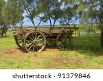 Old Horse Drawn Wagon On...