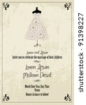 wedding invitation card template | Shutterstock .eps vector #91398227