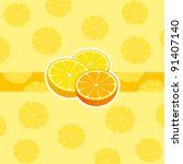 bright citrus background with
