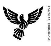 abstract bird | Shutterstock .eps vector #91407935
