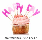 birthday cupcakes with colorul... | Shutterstock . vector #91417217